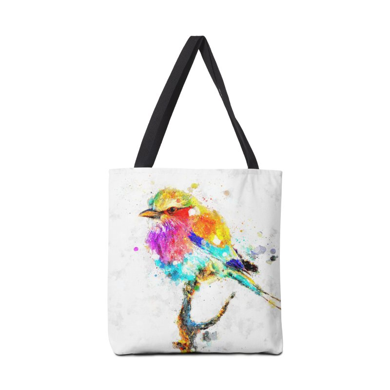 Artistic IV - Colorful Bird Accessories Bag by Abstract designs