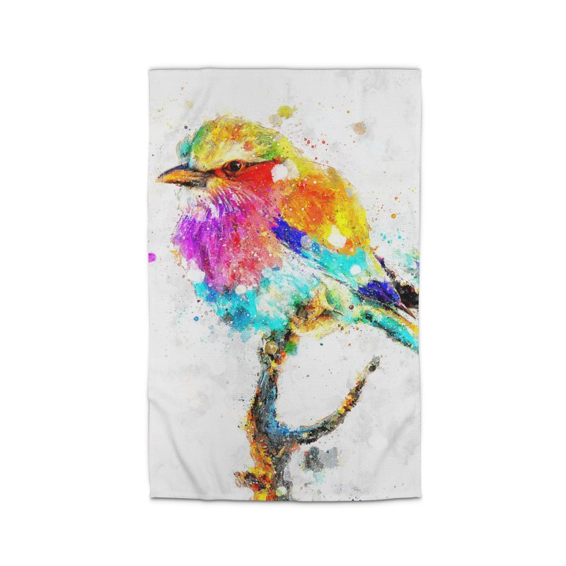 Artistic IV - Colorful Bird Home Rug by Abstract designs