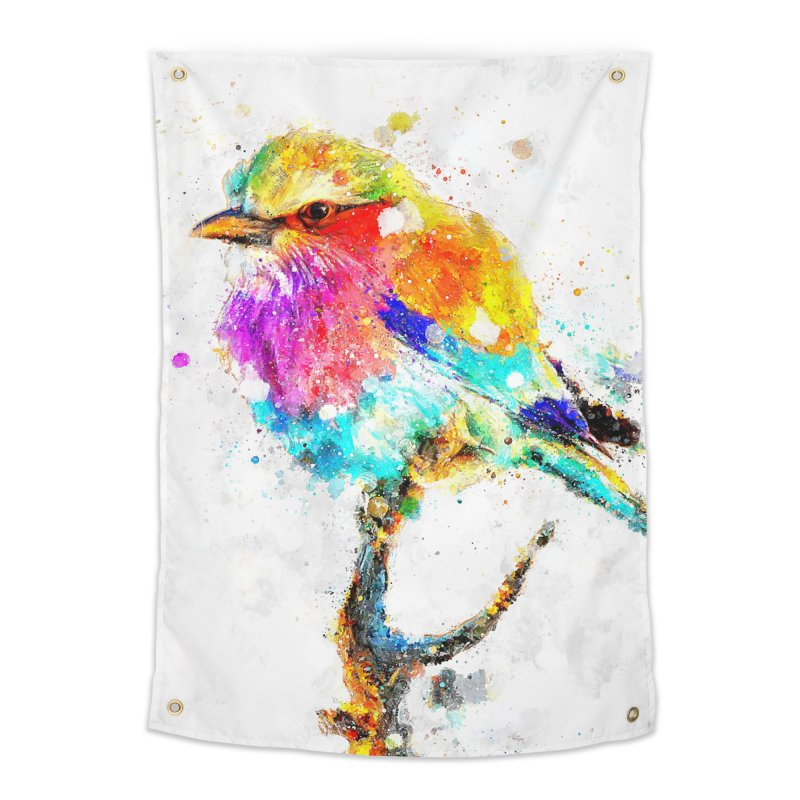 Artistic IV - Colorful Bird Home Tapestry by Abstract designs