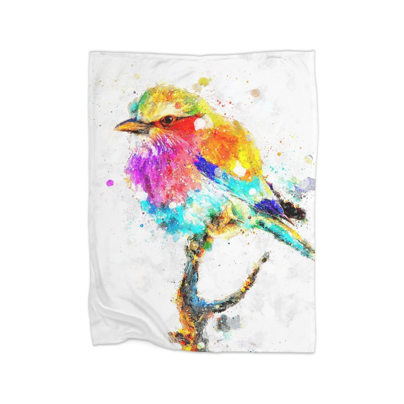 Artistic IV - Colorful Bird in Fleece Blanket Blanket by Abstract designs