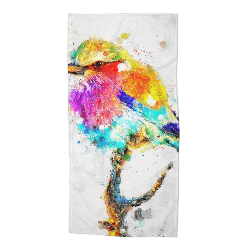 Artistic IV - Colorful Bird Accessories Beach Towel by Abstract designs