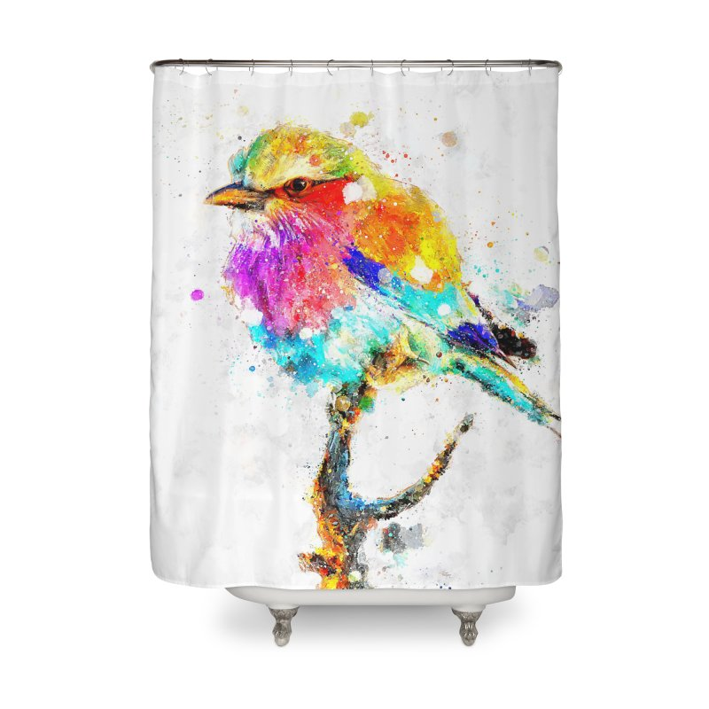 Artistic IV - Colorful Bird Home Shower Curtain by Abstract designs