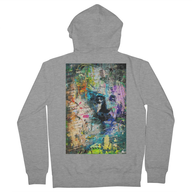 Artistic OI - Albert Einstein II Women's Zip-Up Hoody by Abstract designs