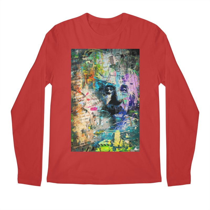 Artistic OI - Albert Einstein II Men's Longsleeve T-Shirt by Abstract designs