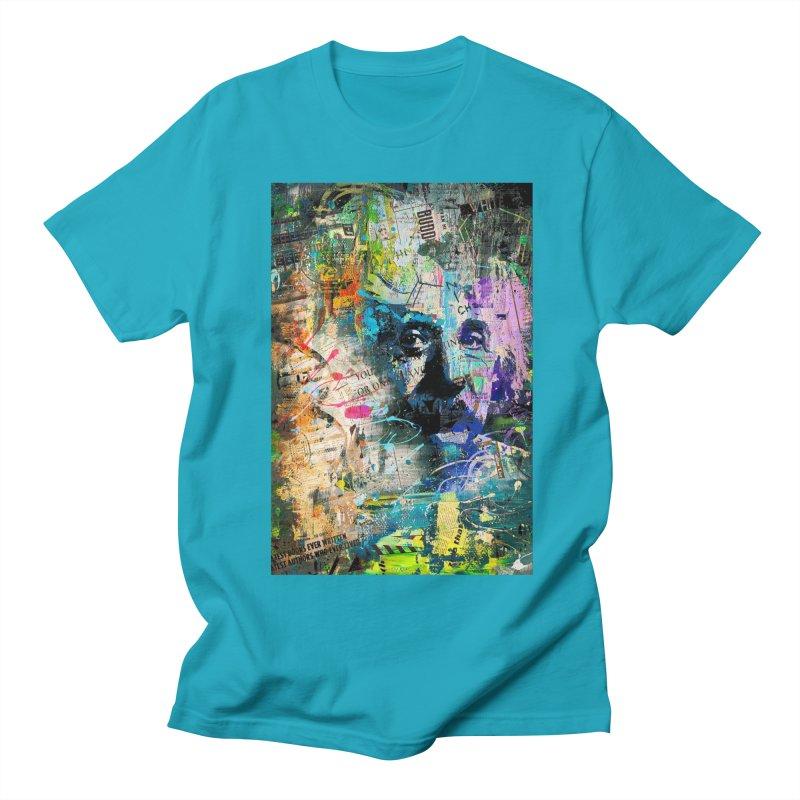 Artistic OI - Albert Einstein II Men's T-Shirt by Abstract designs