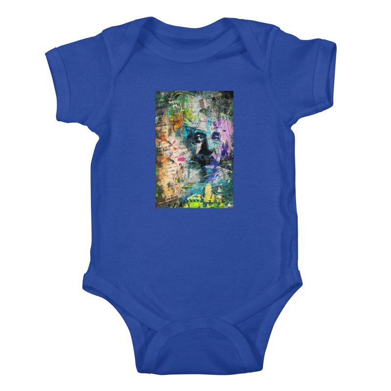 Artistic OI - Albert Einstein II Kids Baby Bodysuit by Abstract designs