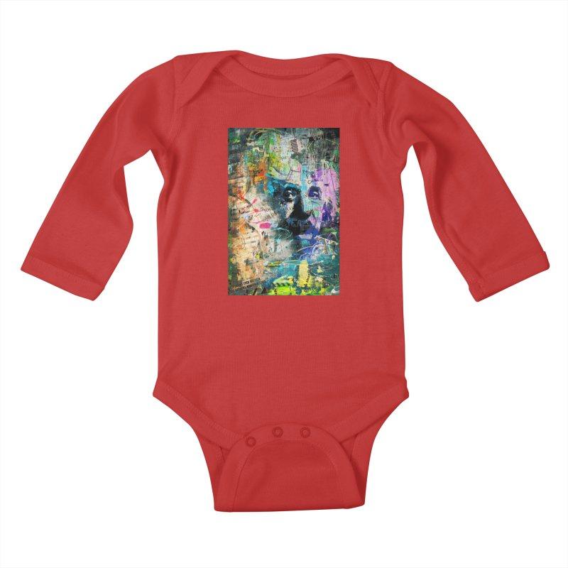 Artistic OI - Albert Einstein II Kids Baby Longsleeve Bodysuit by Abstract designs