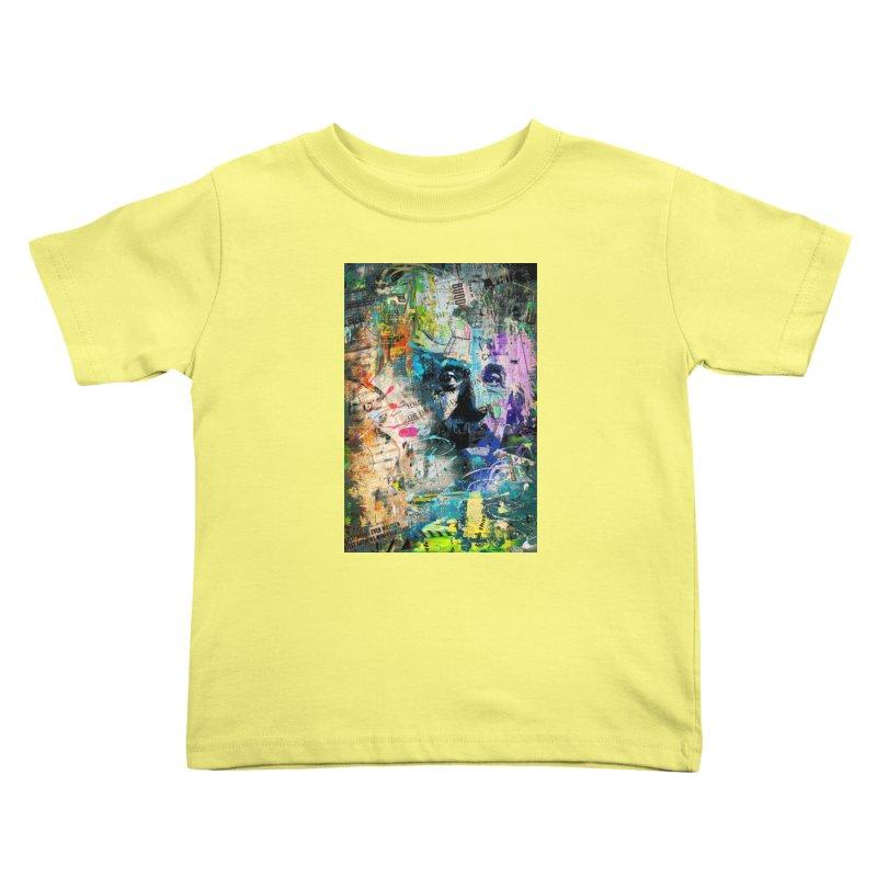 Artistic OI - Albert Einstein II Kids Toddler T-Shirt by Abstract designs