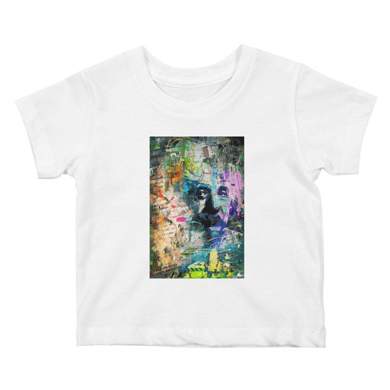 Artistic OI - Albert Einstein II Kids Baby T-Shirt by Abstract designs