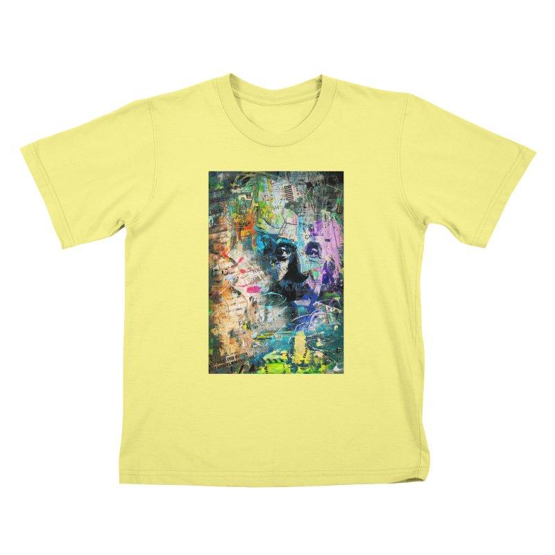 Artistic OI - Albert Einstein II Kids T-shirt by Abstract designs