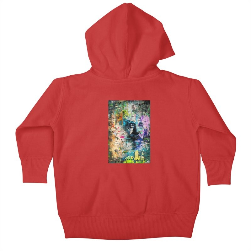 Artistic OI - Albert Einstein II Kids Baby Zip-Up Hoody by Abstract designs