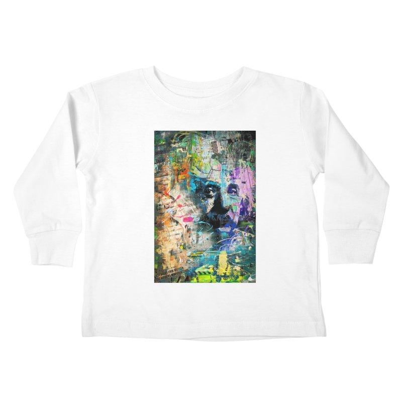 Artistic OI - Albert Einstein II Kids Toddler Longsleeve T-Shirt by Abstract designs