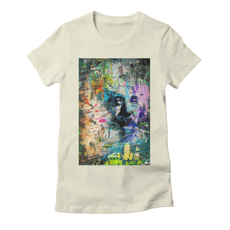 Artistic OI - Albert Einstein II Women's Fitted T-Shirt by Abstract designs