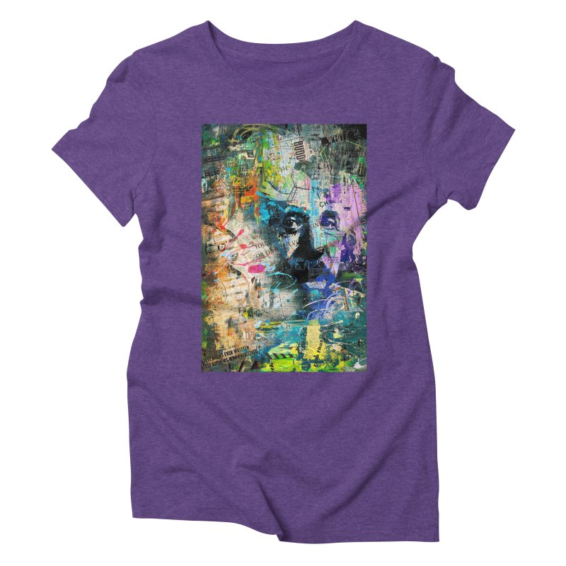 Artistic OI - Albert Einstein II Women's Triblend T-Shirt by Abstract designs