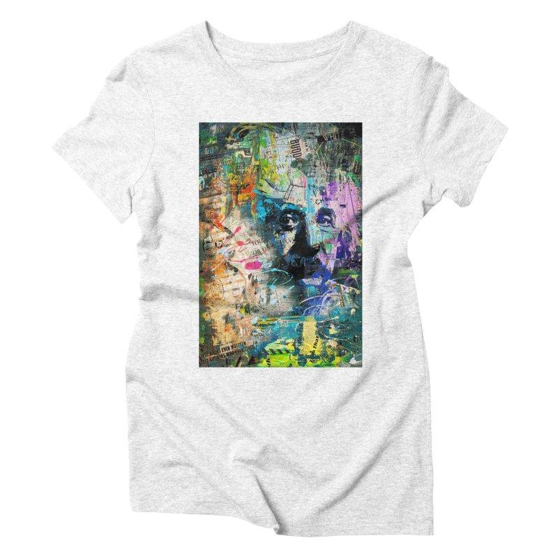 Artistic OI - Albert Einstein II Women's Triblend T-shirt by Abstract designs