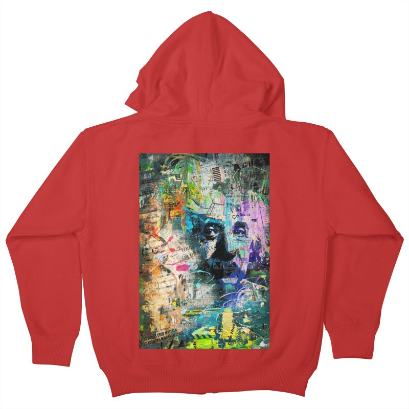 Artistic OI - Albert Einstein II Kids Zip-Up Hoody by Abstract designs