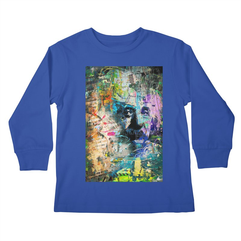 Artistic OI - Albert Einstein II Kids Longsleeve T-Shirt by Abstract designs