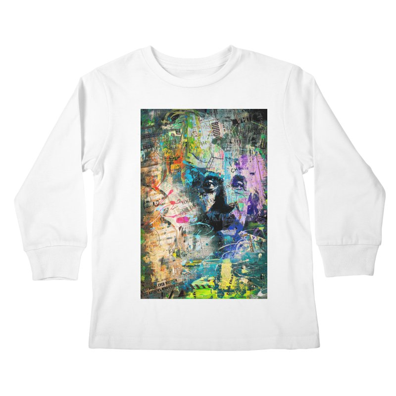 Artistic OI - Albert Einstein II Kids Longsleeve T-Shirt by Abstract designs