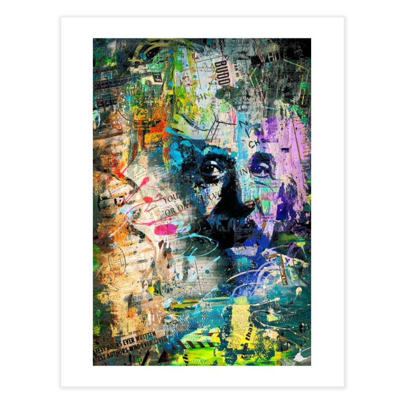 Artistic OI - Albert Einstein II in Fine Art Print by Abstract designs
