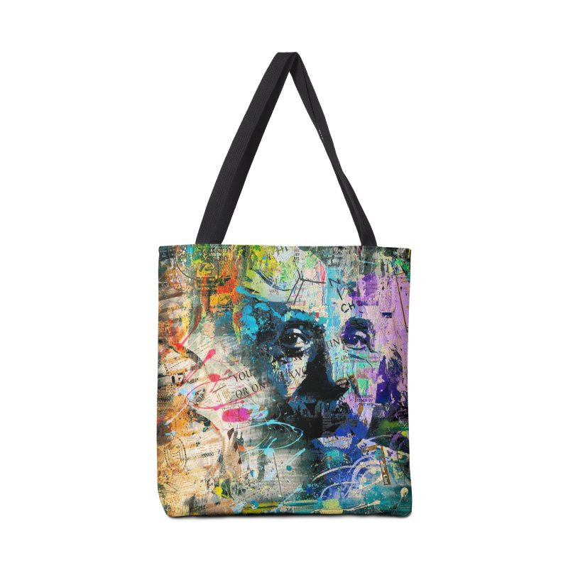 Artistic OI - Albert Einstein II Accessories Bag by Abstract designs