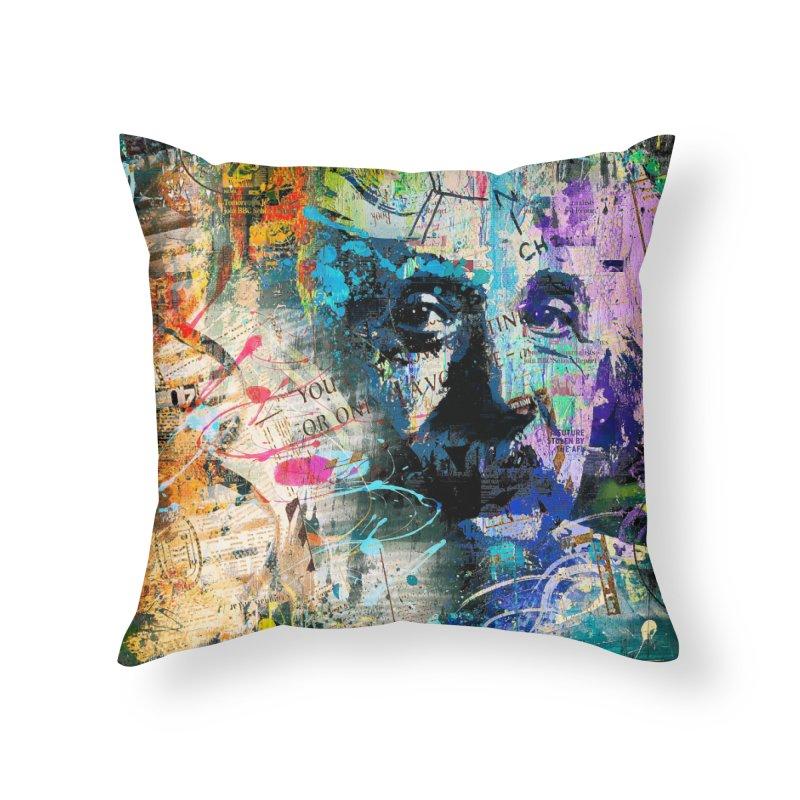 Artistic OI - Albert Einstein II Home Throw Pillow by Abstract designs