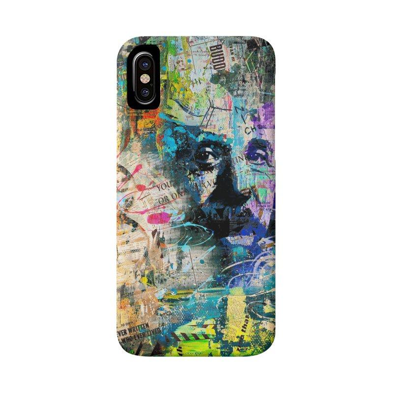 Artistic OI - Albert Einstein II Accessories Phone Case by Art Design Works