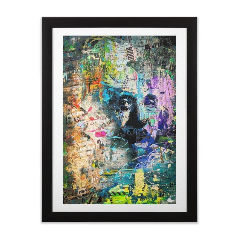 Artistic OI - Albert Einstein II Home Framed Fine Art Print by Abstract designs