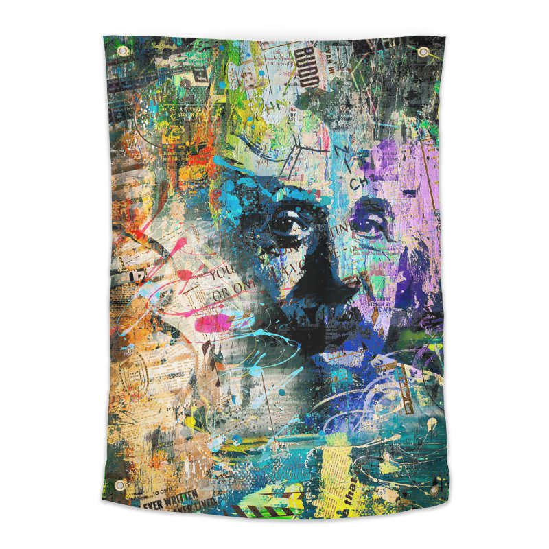 Artistic OI - Albert Einstein II Home Tapestry by Abstract designs