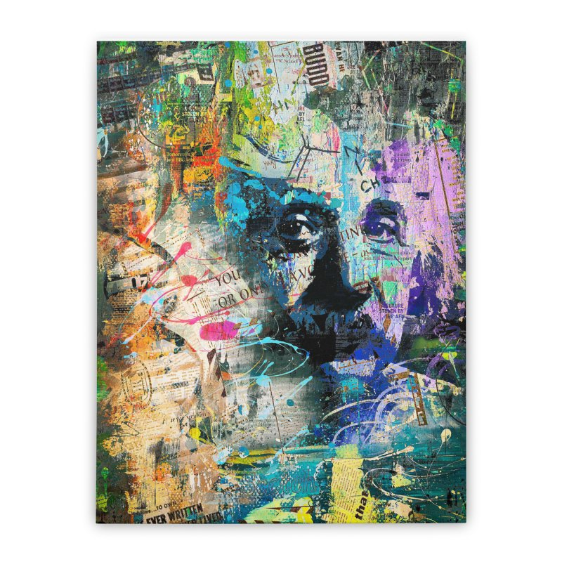 Artistic OI - Albert Einstein II Home Stretched Canvas by Abstract designs