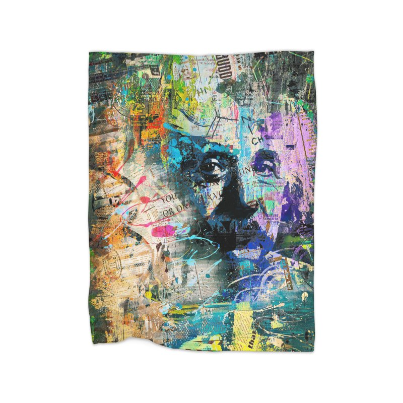 Artistic OI - Albert Einstein II Home Blanket by Abstract designs