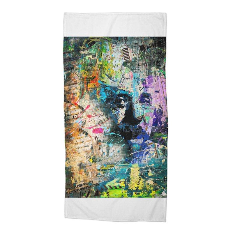 Artistic OI - Albert Einstein II Accessories Beach Towel by Abstract designs