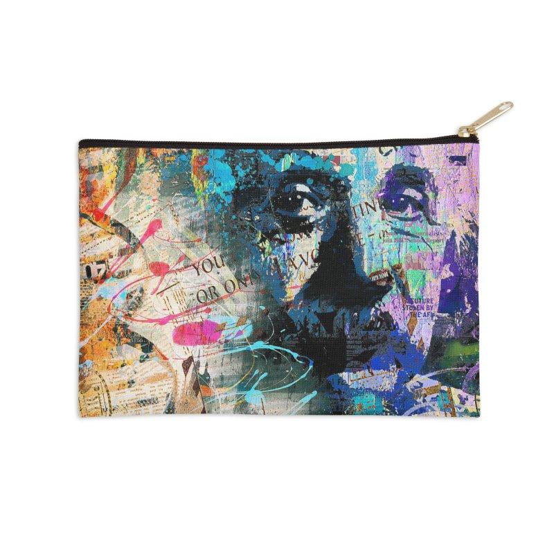Artistic OI - Albert Einstein II Accessories Zip Pouch by Abstract designs