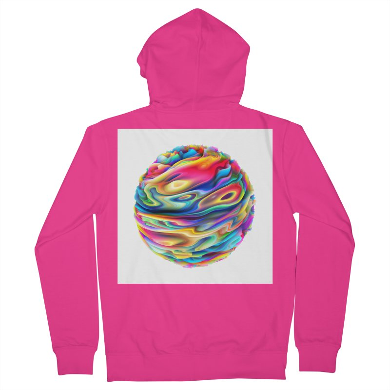 Chaos XII Men's Zip-Up Hoody by Abstract designs