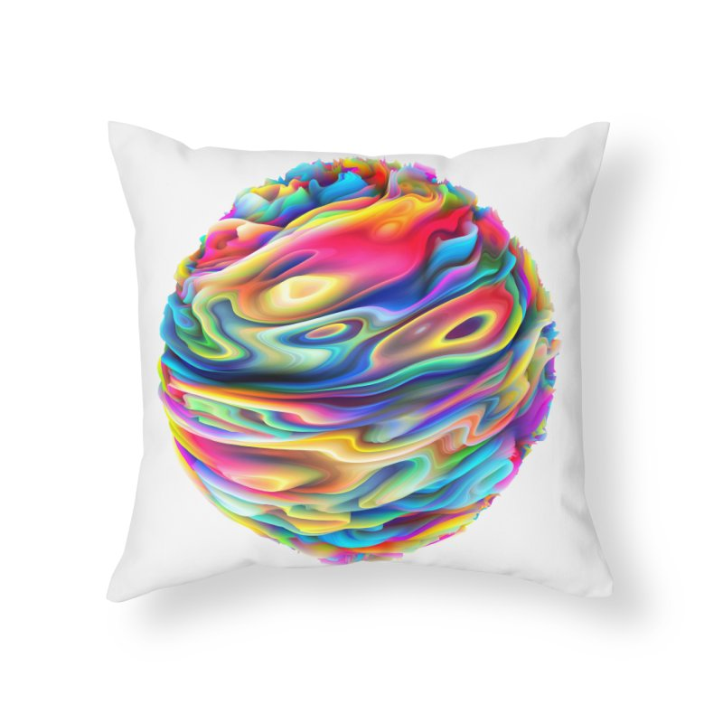 Chaos XII Home Throw Pillow by Abstract designs