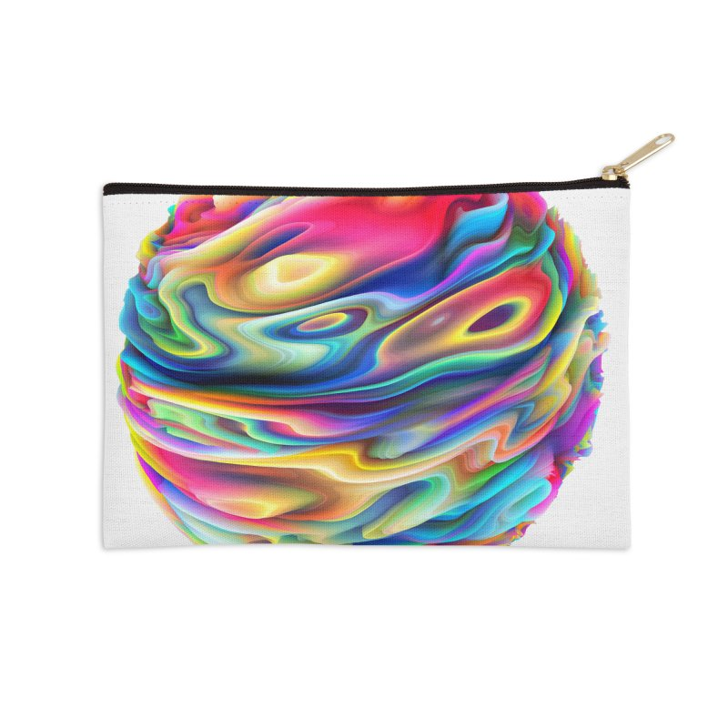 Chaos XII Accessories Zip Pouch by Abstract designs