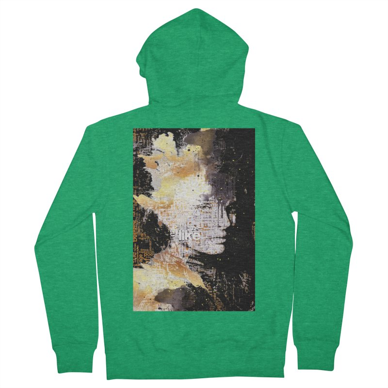 Typo face Women's Zip-Up Hoody by Abstract designs