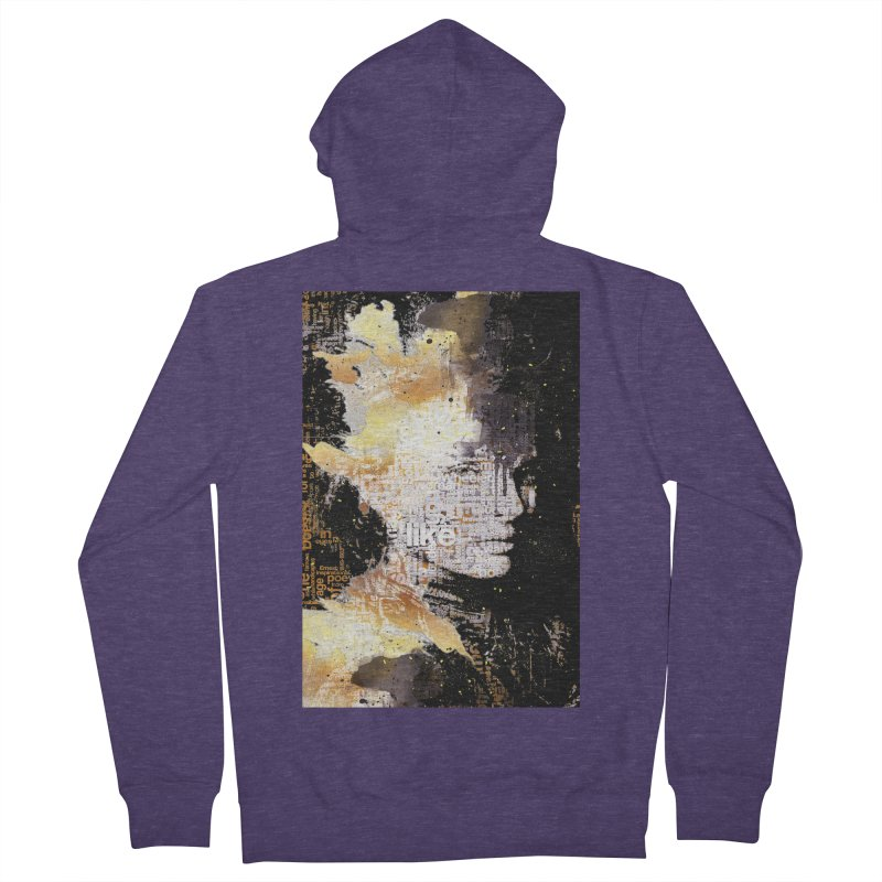 Typo face Men's Zip-Up Hoody by Abstract designs