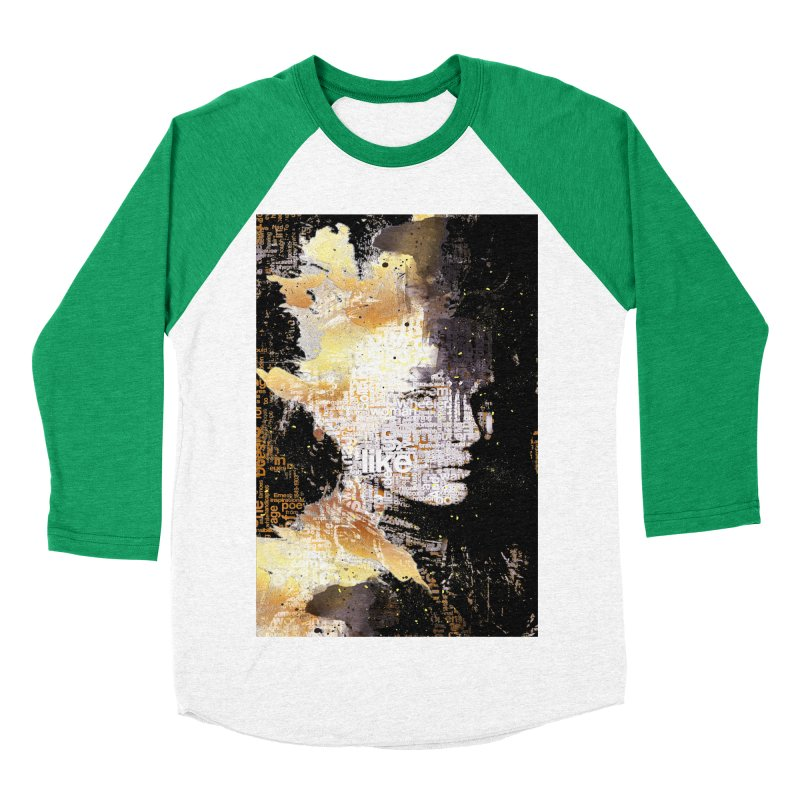 Typo face Women's Baseball Triblend T-Shirt by Abstract designs