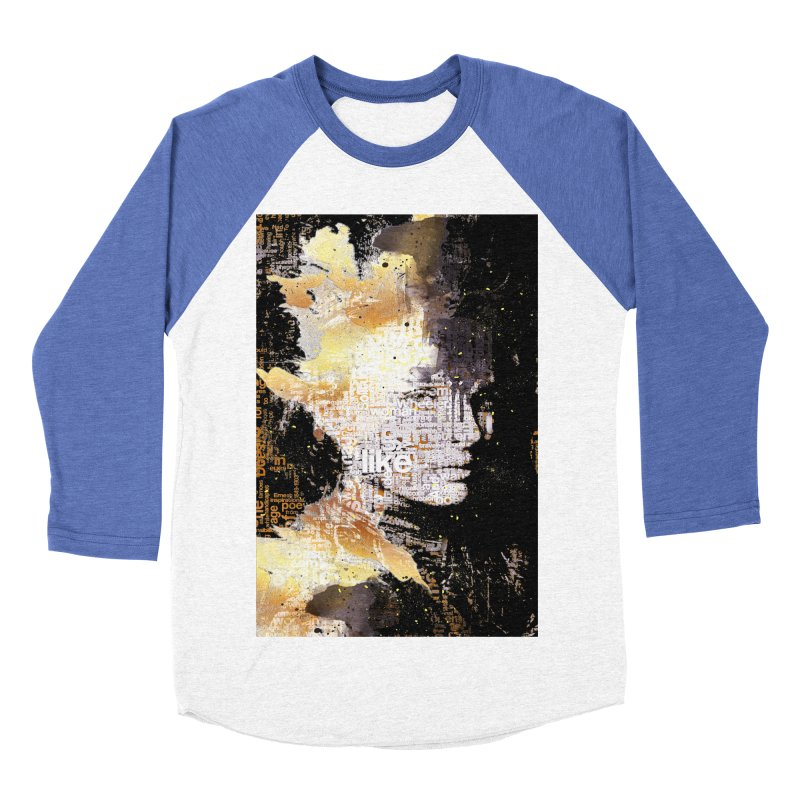 Typo face Men's Baseball Triblend T-Shirt by Abstract designs
