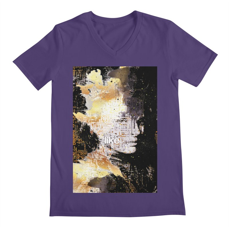 Typo face Men's V-Neck by Abstract designs