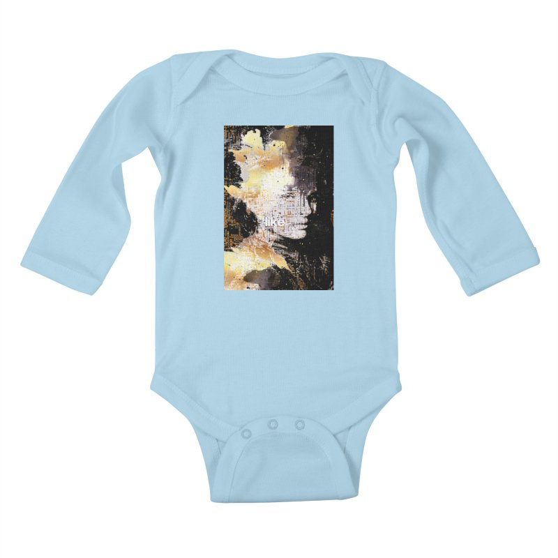 Typo face Kids Baby Longsleeve Bodysuit by Abstract designs