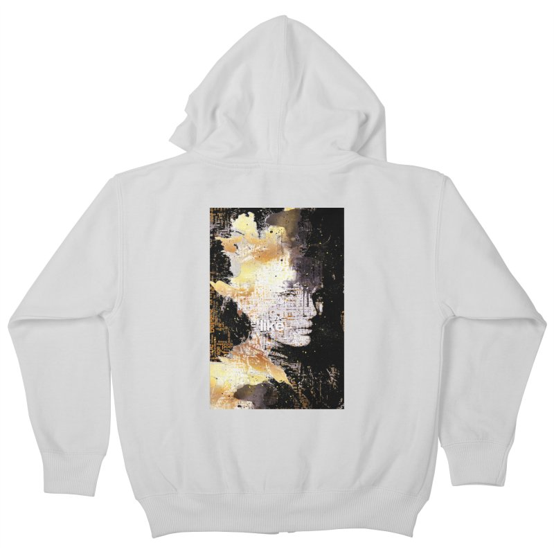 Typo face Kids Zip-Up Hoody by Abstract designs
