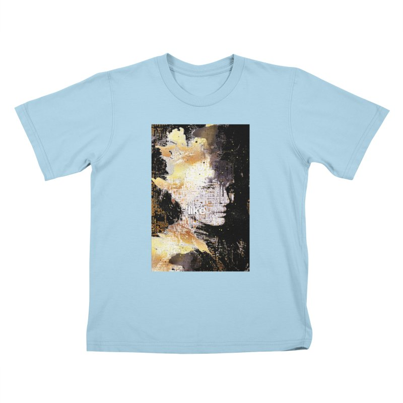 Typo face Kids T-shirt by Abstract designs