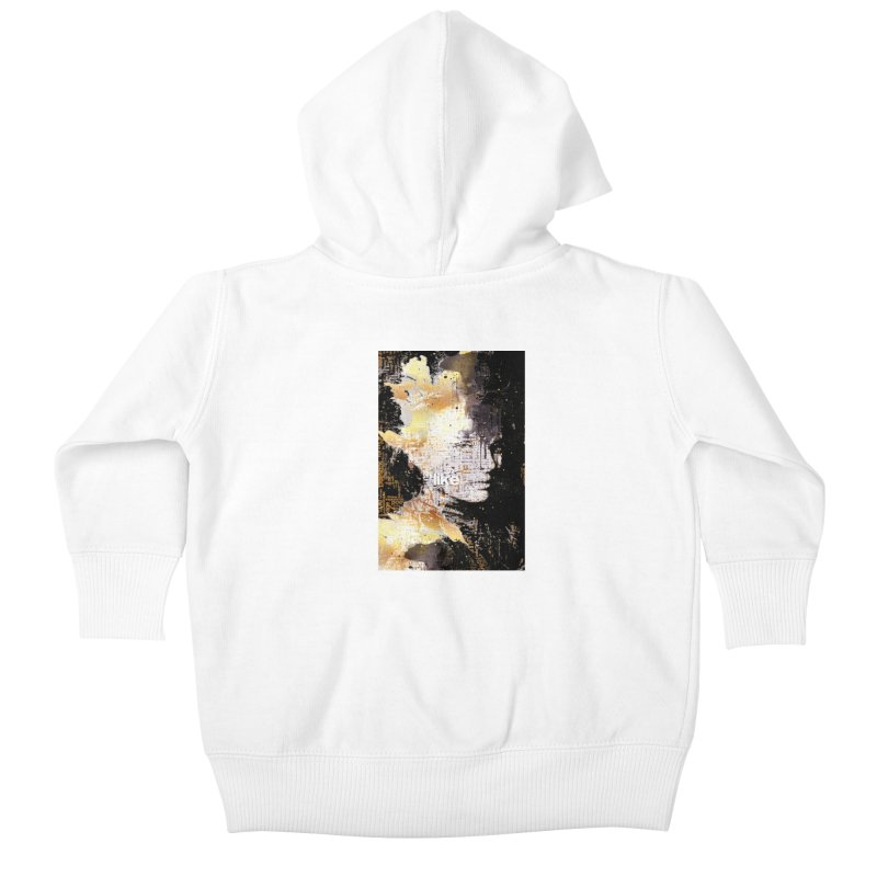 Typo face Kids Baby Zip-Up Hoody by Abstract designs