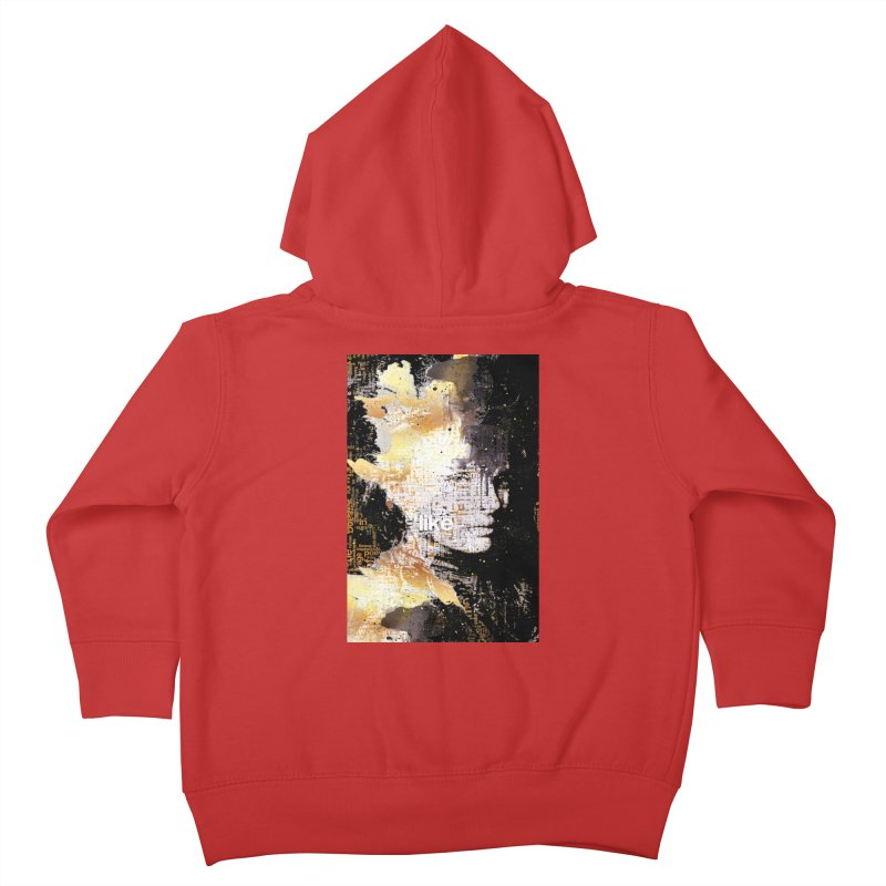Typo face Kids Toddler Zip-Up Hoody by Abstract designs