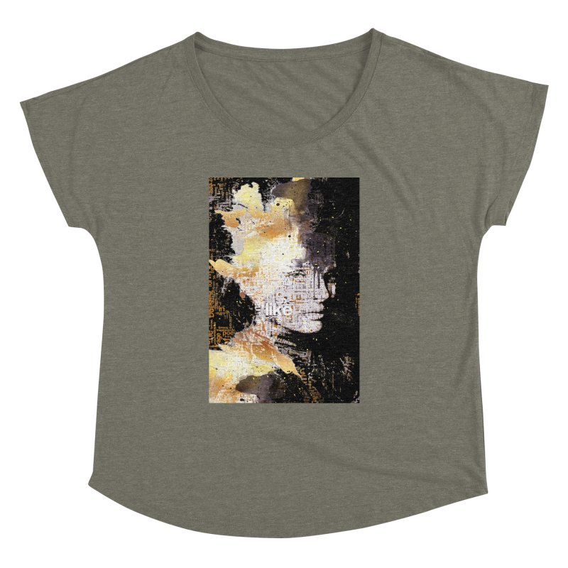 Typo face Women's Dolman by Abstract designs