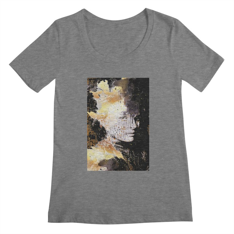 Typo face Women's Scoopneck by Abstract designs