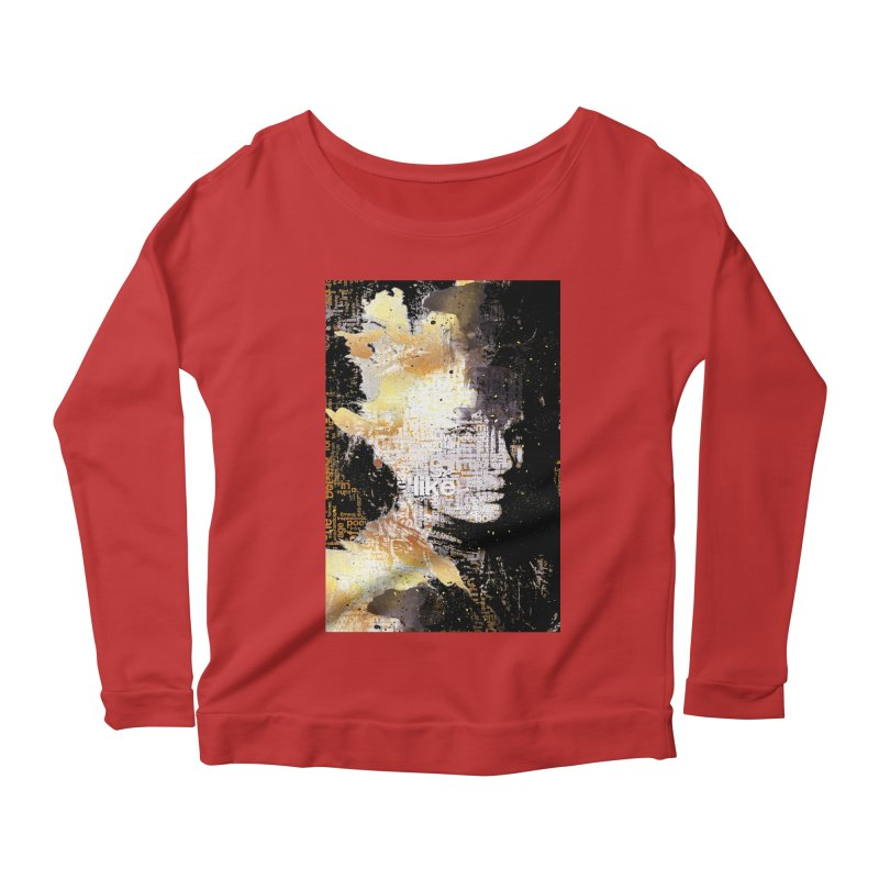 Typo face Women's Longsleeve Scoopneck  by Abstract designs