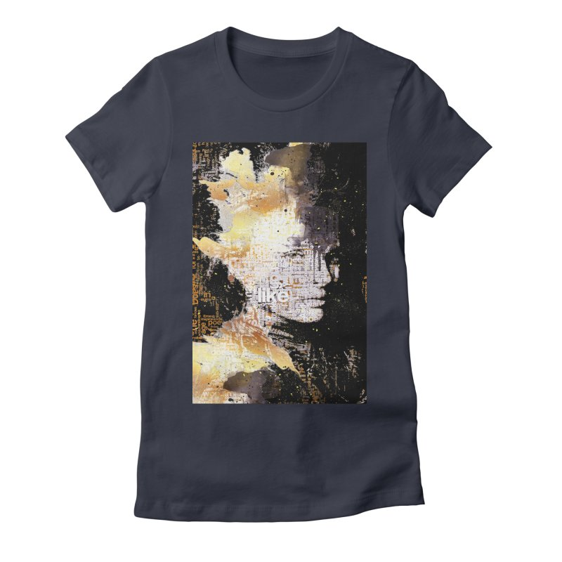 Typo face Women's Fitted T-Shirt by Abstract designs