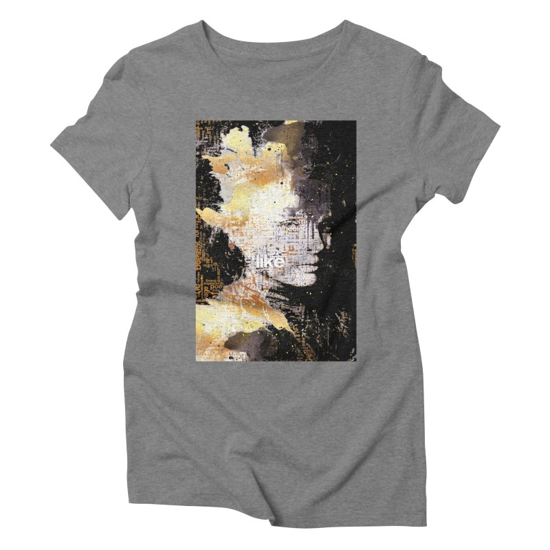 Typo face Women's Triblend T-Shirt by Abstract designs